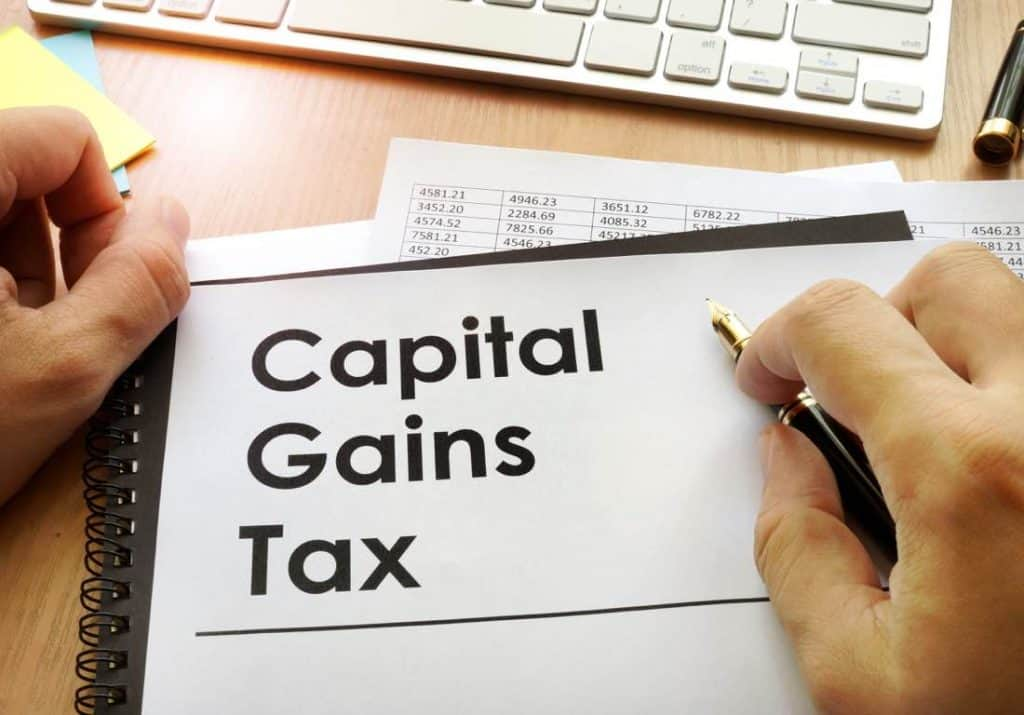 capital gains on Australian shares